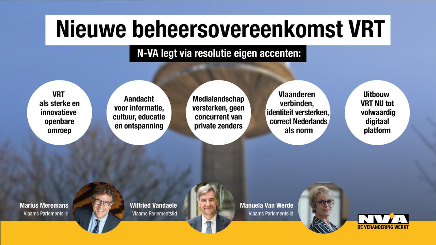 N-VA legt accenten voor nieuwe beheersovereenkomst VRT